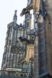 Gargoyles on St Vitus walls Royalty Free Stock Photography