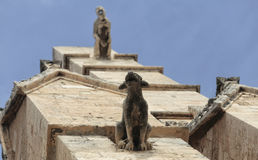 Gargoyles at wall Royalty Free Stock Photos