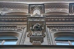 Gargoyley da casa do ` s de Kosikovsky em St Petersburg, Rússia Imagem de Stock Royalty Free
