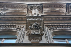 Gargoyley of Kosikovsky`s house in Saint Petersburg, Russia Royalty Free Stock Image
