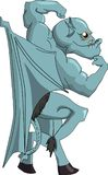 Gargulec kreskówki Halloween clipart halloweens wektorowych wizerunków Halloween eps szczęśliwy jpg royalty ilustracja