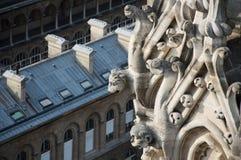 Gargulec Notre Damae Fotografia Royalty Free