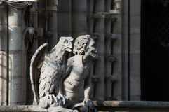 Gargulec Notre Damae Zdjęcie Royalty Free