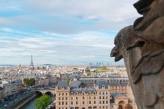 Gargulec Paryż Obrazy Stock