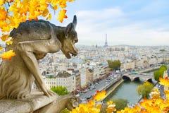 Gargulec Paryż Obraz Stock