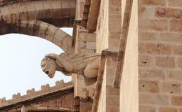 Gargulec przy katedrą Obrazy Royalty Free