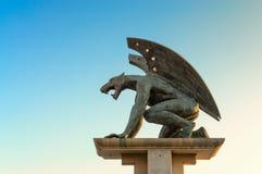Gargulec statua, Walencja, Hiszpania Fotografia Stock