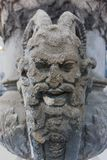 Garguleca demonu rzeźby twarze ześrodkowywać ruiny zdjęcie royalty free