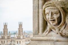 Garguleca St. Mary dziewicy Kościelne. Oxford, UK Zdjęcie Royalty Free
