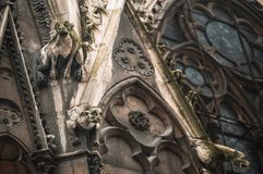 Gargulece na Notre Damae katedrze fotografia stock
