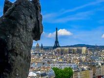 Gargulece Notre Damae, Paryż -, Francja Obraz Royalty Free