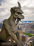 Gargulece Notre Damae, Paryż -, Francja Obraz Stock