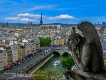 Gargulece Notre Damae, Paryż -, Francja Obrazy Royalty Free