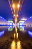 Garhoud桥梁长的曝光从在底下的 库存图片