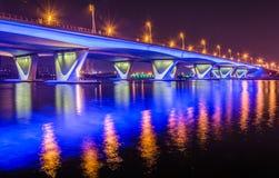 Garhoud bridge. Al Garhoud bridge, Creek, Dubai Stock Photos