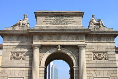 Garibaldi gate in Milan Royalty Free Stock Photography