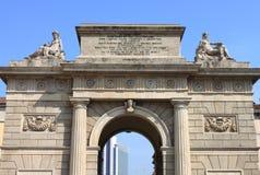 Garibaldi gate in Milan royalty free stock photography