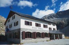 Garibaldi Hut - Gebirgsgruppe von Adamello - Italien Stockbilder