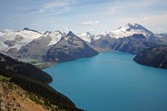 Garibaldi Lake and Massif. Stock Photography