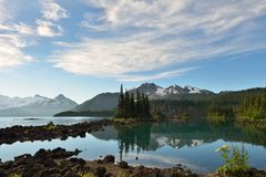 Garibaldi Lake in the morning Stock Photos