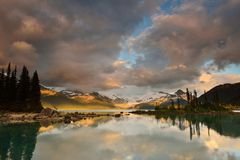 Garibaldi Lake Sunset Royalty Free Stock Image