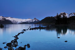 Garibaldi Lake in Twilight Stock Photo