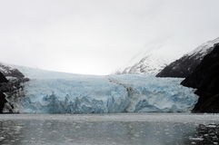 Garibaldi lodowiec na archipelagu Tierra Del Fuego Fotografia Stock