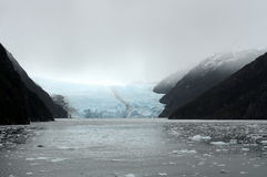 Garibaldi lodowiec na archipelagu Tierra Del Fuego Obrazy Stock