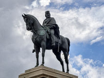 Garibaldi monument at Gianicolo in Rome, Italy. Garibaldi monument at top of Gianicolo in Rome, Italy Stock Photo