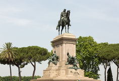 Garibaldi Monument on Janiculum Hill in Rome Stock Photo