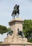 Garibaldi Monument on Janiculum Hill in Rome Royalty Free Stock Photo