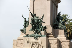 Garibaldi Monument on Janiculum Hill in Rome, Royalty Free Stock Photography