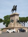 Garibaldi Monument on Janiculum Hill in Rome Stock Photos