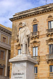 Garibaldi monument, Trapani Stock Photos