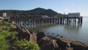 Garibaldi,  Oregon, Crab Docks stock footage