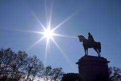 Garibaldi`s equestrian statue royalty free stock image