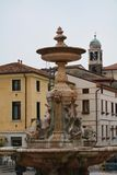 Garibaldi Square and statue in Bassano del Grappa, Italy Royalty Free Stock Photo