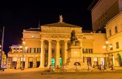 Garibaldi Statue in front of Teatro Carlo Felice in Genoa Stock Image