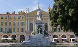 Garibaldi Statue in Garibaldi Square in Nice Royalty Free Stock Photography
