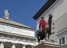 Garibaldi Statue in Genua Stockbilder