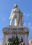 Garibaldi Statue i Garibaldi Square i Nice Arkivbilder