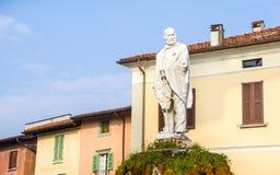 Garibaldi statue in the main Iseo village square Stock Photo