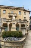 Garibaldi statue in San Marino Stock Photo