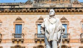 Garibaldi-Statue in Trapani, Italien Lizenzfreies Stockfoto