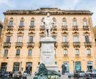 Garibaldi statue in Trapani, Italy Royalty Free Stock Photography