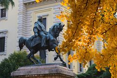 Garibaldi staty 免版税图库摄影