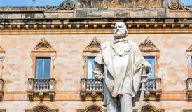 Garibaldi staty i Trapani, Italien Royaltyfri Foto