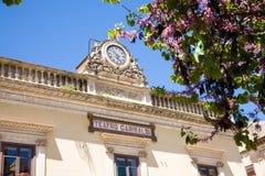 Garibaldi teater, Modica, Sicilien Arkivbild