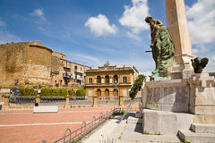 Garibaldi theater, Piazza Armerina, Sicily royalty free stock photo