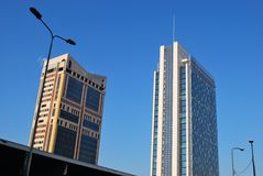 Garibaldi towers, Milan Stock Photo